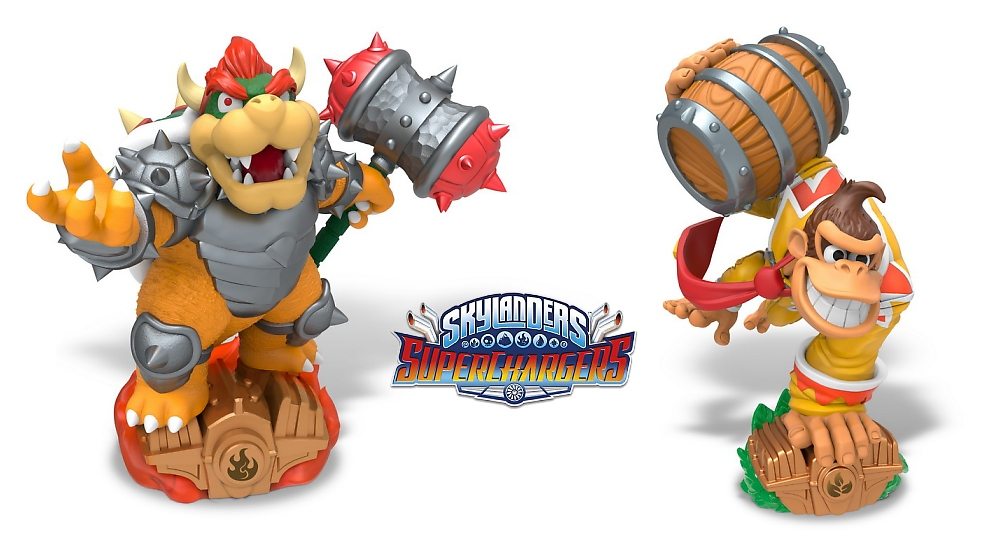 Donkey Kong And Bowser Coming To Skylanders Superchargers